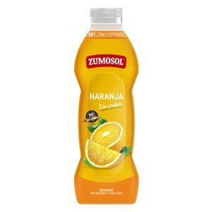 Zumo refrigerado sin pulpa de naranja zumosol 75cl