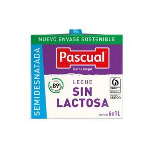 Leche sin lactosa semidesnatada pascual brick 1l