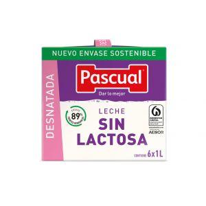 Leche sin lactosa desnatada pascual brick 1l