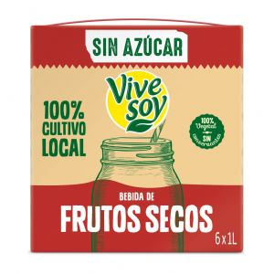 Bebida vegetal frutos secos vivesoy brick 1l