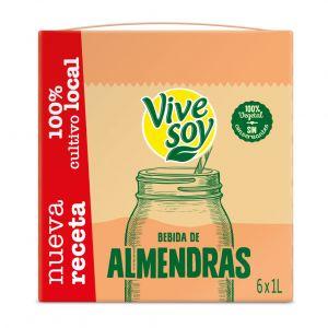 Bebida almendras vivesoy brick 1l