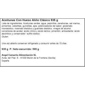 Aceituna c/hueso clasica fragata tarro 595gr