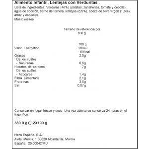 Tarrito r.casera lentejas verd hero p2x190g