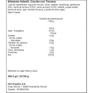 Tarrito r.casera cocido hero  200g