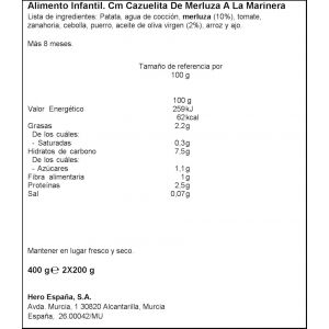 Tarrito cazuela merluz marinera hero  p2x200g
