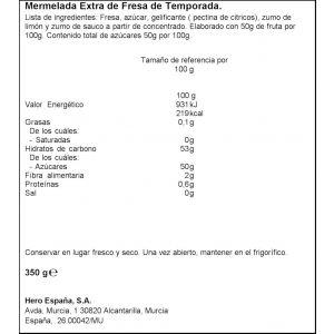 Mermelada temporada fresa hero tarro 350g