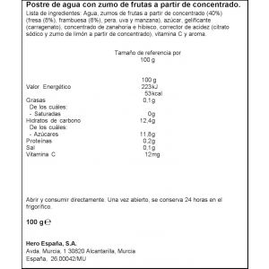 Pouch  gelatina f.bosque hero nanos  100g