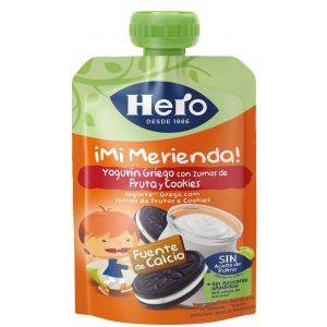 Pouch  yogur galleta hero  100g