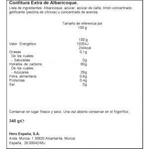 Confiruta albaricoque hero 345g