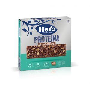 Barrita de proteinas chocolate hero p-4x 84gr