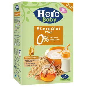 Papilla  8 cereales miel hero  500g