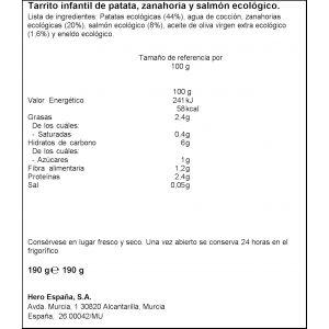 Tarrito bio patata,  zanahoria y  salmon solo hero 190gr