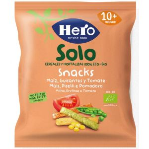 Snack eco tomate-guisante hero baby solo 15gr