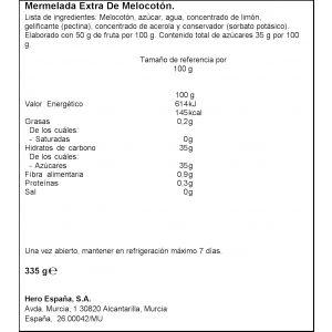 Mermelada temporada-30% kcal melocoton hero 335g