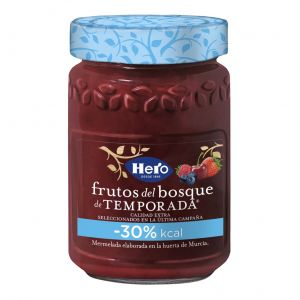 Mermelada temporada -30% kcal frutas del bosque hero 335g