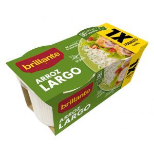 Arroz largo xl  brillante vaso p2x200g