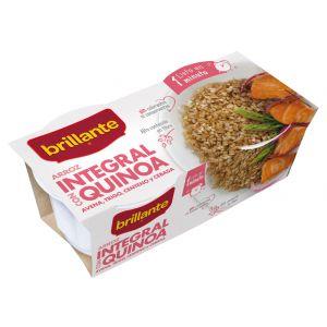 Arroz integral quinoa brillante vaso p2x125g