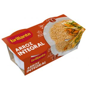 Arroz integral guarnicion brillante vaso p2x125g