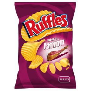 Patatas fritas jamon ruffles 160g