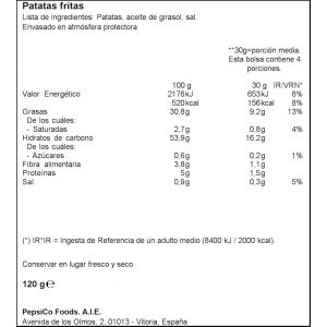 Patatas fritas gourmet lays 120gr