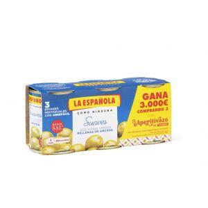 Aceituna rellena de anchoa suave española p3x50g