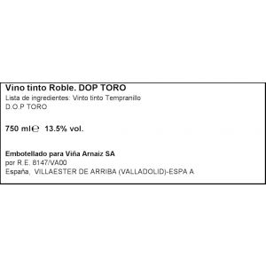Vino do toro tinto pata negra roble 75cl