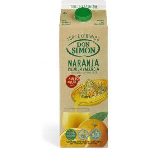 Zumo exprimido con pulpa naranja don simon 1l