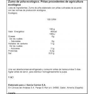 Zumo exprimido  ecologico piña don simon 1l