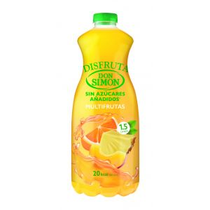 Néctar multifruta sin azúcar don simón botella 1,5l