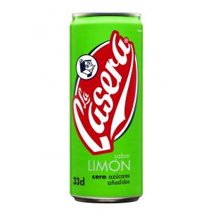 Refresco  limon casera lata 33cl