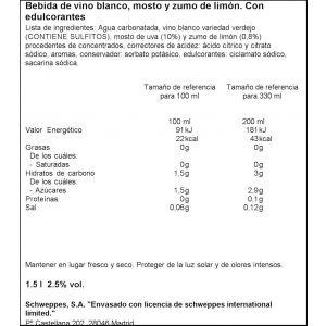 Distinto vino verdejo y limon la casera pet 1,5l