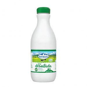 Leche desnatada asturiana botella 1,5l