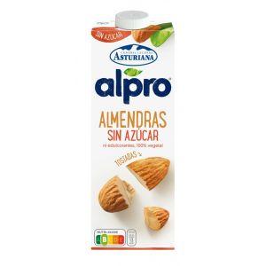 Leche s/ azúcar almendras alpro brick 1l