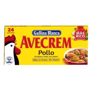 Caldo de pollo avecrem gallina blanca 24 pastillas