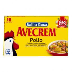 Caldo de pollo avecrem gallina blanca 18 pastillas