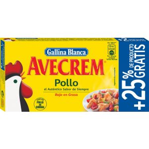 Caldo de pollo avecrem  gallina blanca 8 pastillas