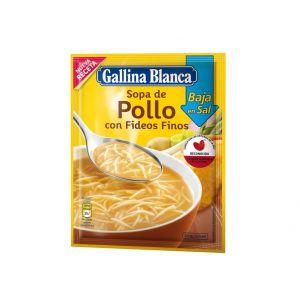 Sopa baja en sal de pollo gallina blanca 35g