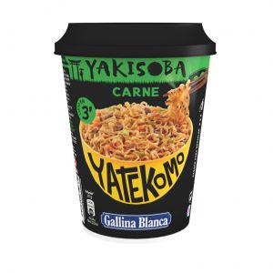 Pasta de carne yakisoba yatekomo gallina blanca cup 93g