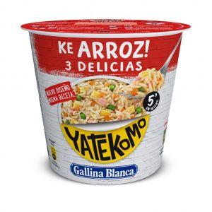 Pasta arroz 3  delicias world tour yatekomo gallina blanca cup 95g