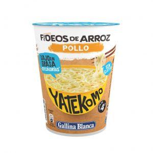 Pasta arroz con pollo sin gluten yatekomo gallina blanca cup 53g