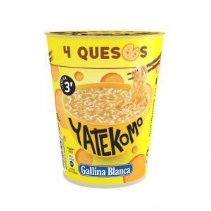 Pasta 4 quesos yatekomo gallina blanca cup 64g