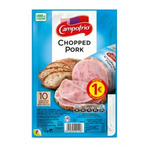 Chopped pork campofrio lonchas 115g pvp 1,00 euros