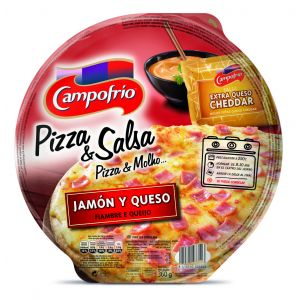 Pizza fresca de jamón y queso campofrio 360g