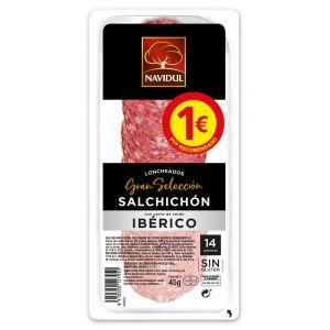 Salchichón ibérico navidul lonchas 45g pvp 1,00 euros