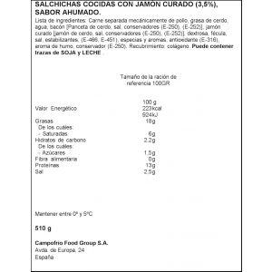 Salchichas jamongus campofrio p3x170g