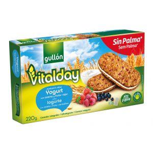 Galleta sandwich vitalday yogurt gullon 220 gr