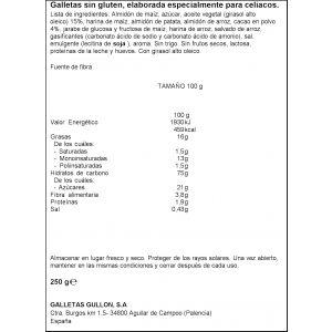 Galleta dibus sin gluten/sin lactosa gullon 250g