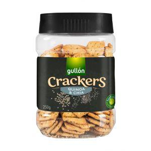 Galleta salada cracker chia bote gullón 250g