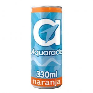 Bebida refrescante  naranja g aquarade lata  sleek 33cl