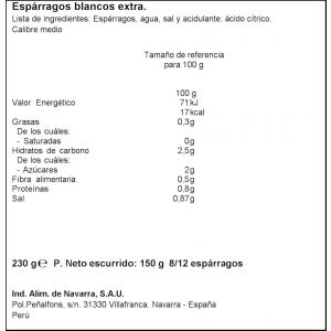 Espárrago fiest 8/12 carretilla lt 150ne